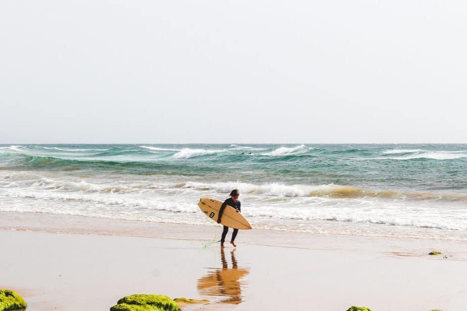 Wooden Longboard Surfboard 》A Classy & Classic Ride 1