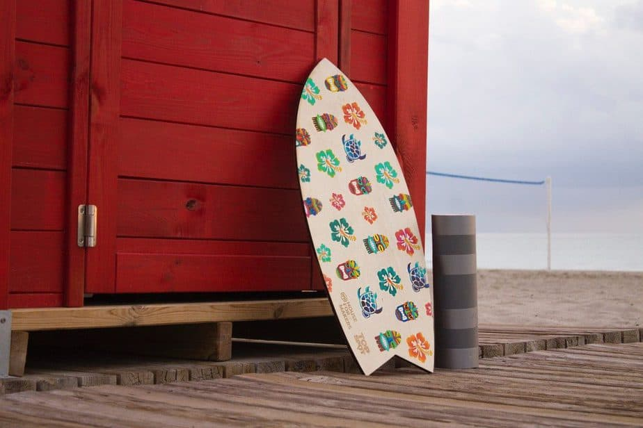 beige wooden body board